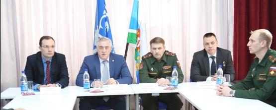 Встреча с представителями  военного  комиссариата  Свердловской области