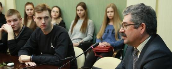 Студенты УрГЭУ встретились с Рамилем Шамсутдиновым